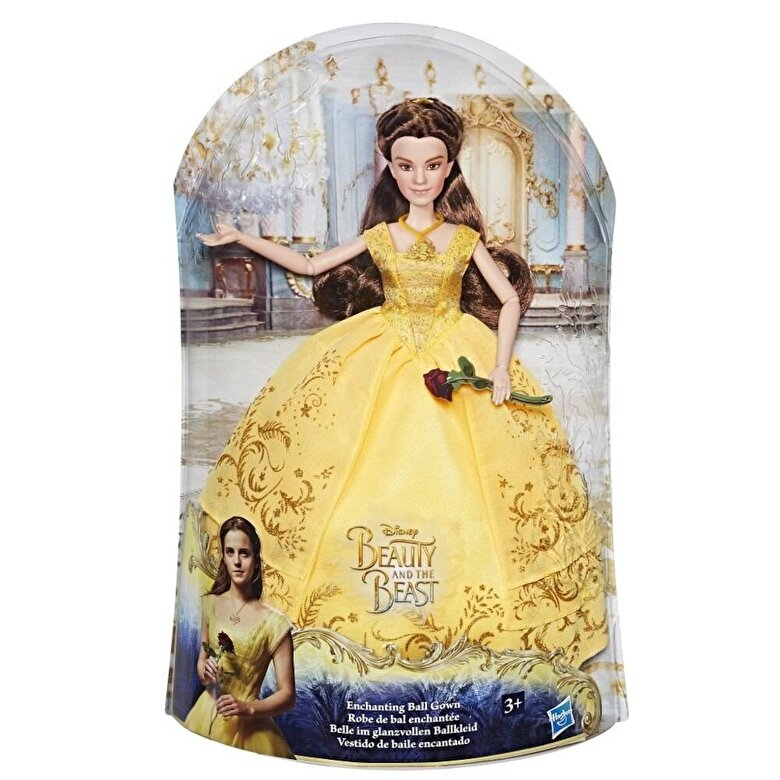 Disney - Disney Beauty and the Beast - Papusa Belle cu rochie de bal -