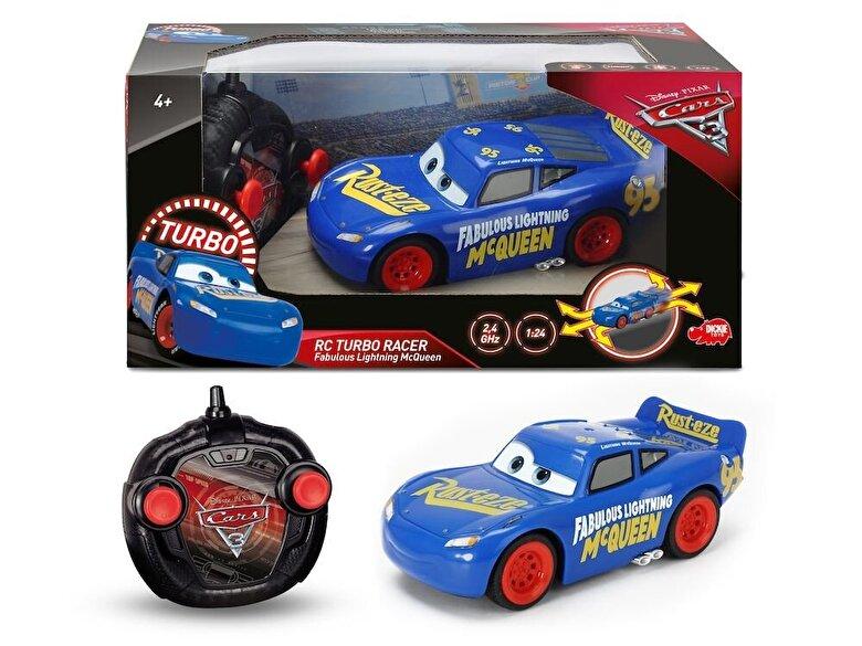 Dickie Toys - Cars 3 - Masina RC Fabulous Turbo Racer Lightning McQueen -