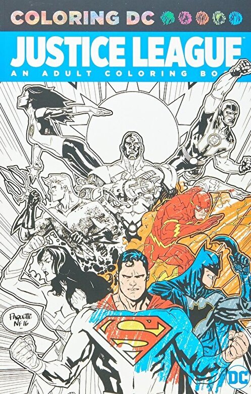 Various - Justice League: An Adult Coloring Book, Paperback -
