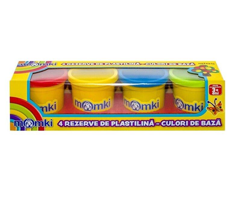 Momki - Set Plastilina, 4 culori de baza -