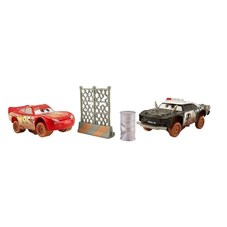 Mattel - Cars 3 - Set 2 masinute Crazy 8 Crasher Fulger McQueen si APB -