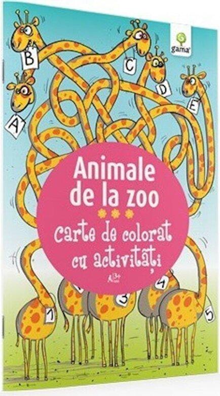 *** - Animale de la zoo. Carte de colorat cu activitati -