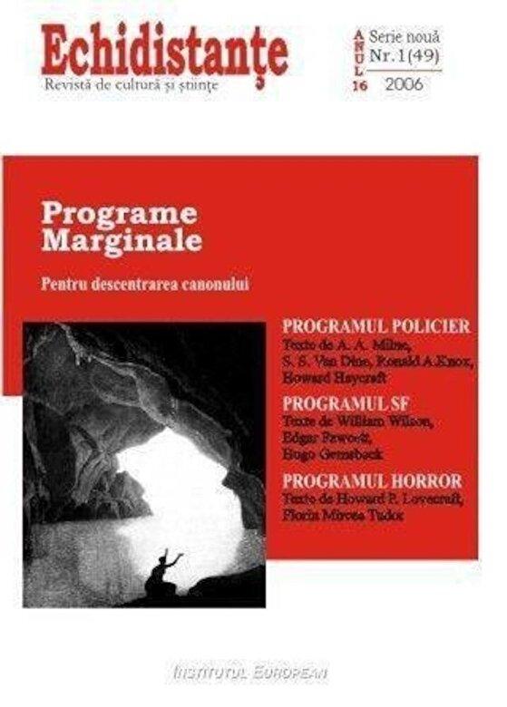 *** - Echidistante nr.1/49 - Programe marginale -