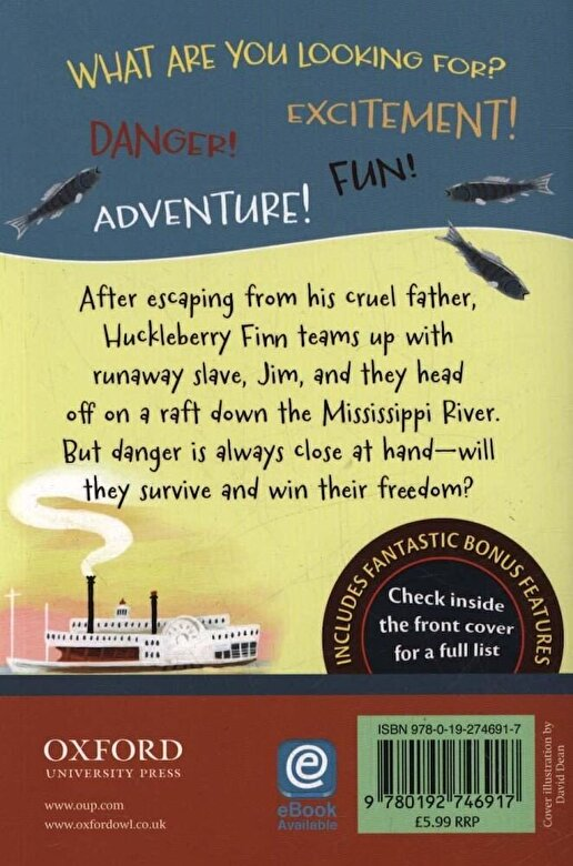 Mark Twain - Oxford Children's Classics: The Adventures of Huckleberry Fi, Paperback -