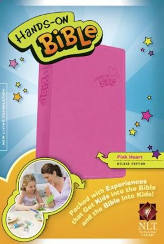 Tyndale - Hands-On Bible-NLT-Pink Heart, Hardcover -
