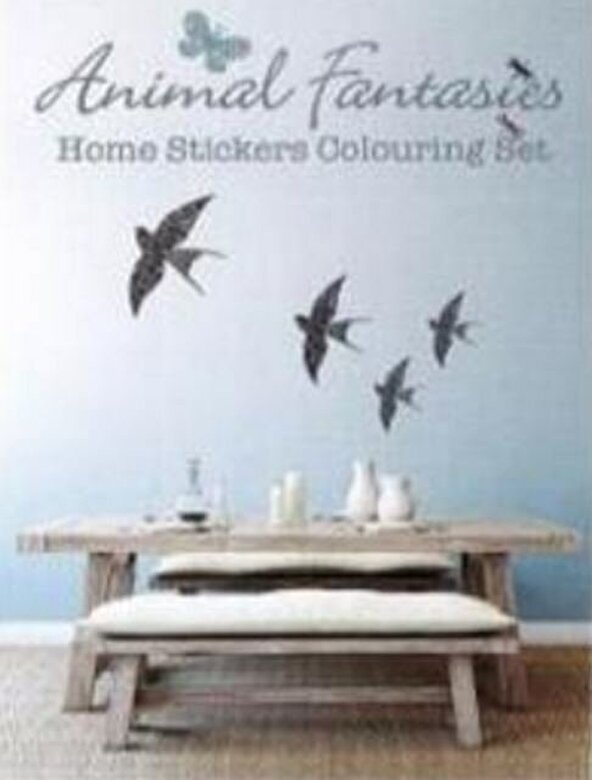 - Animal Fantasies: Home Stickers Colouring Set -