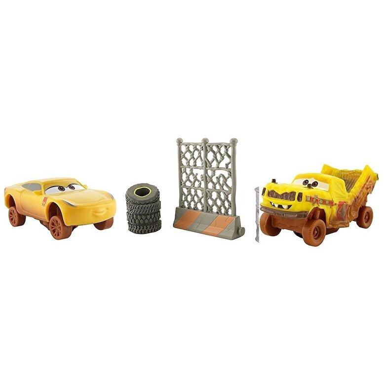 Mattel - Cars 3 - Set 2 masinute Crazy 8 Crasher Cruz Ramirez si Taco -