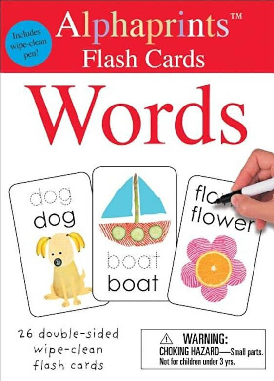 Roger Priddy - Alphaprints: Wipe Clean Flash Cards Words -