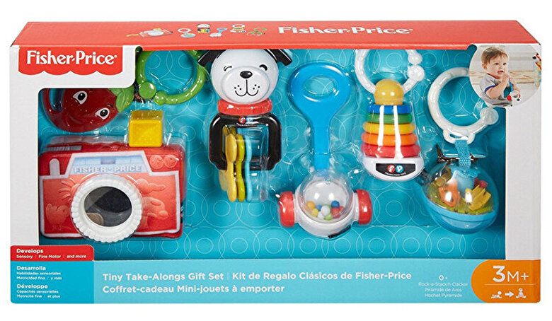 Fisher Price - Set jucarii bebelusi Fisher-Price Tiny Take -