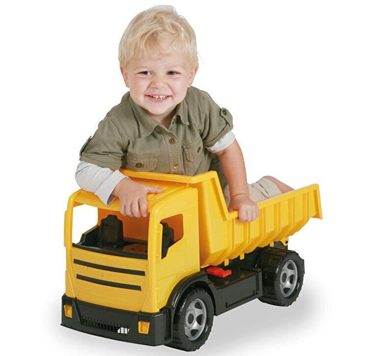 Lena - Camion basculanta pentru copii din plastic Lena, sustine 100 kg, galbena -