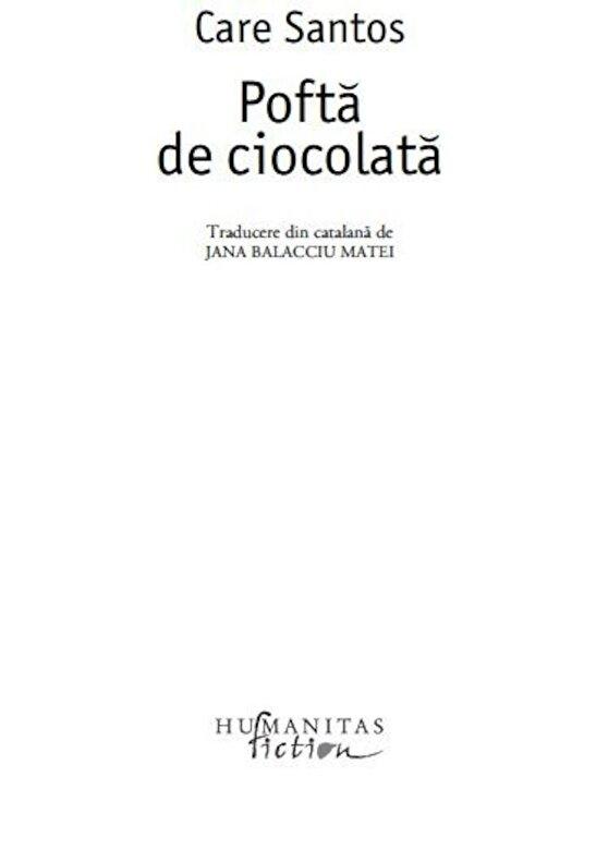 Care Santos - Pofta de ciocolata -