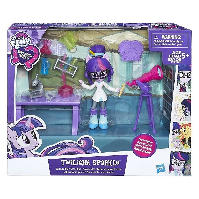 My Little Pony - My Little Pony, Set Equestria Girls Minis - Ora de stiinte, Twilight Sparkle -