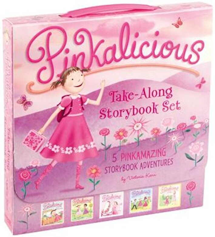 Victoria Kann - The Pinkalicious Take-Along Storybook Set: Tickled Pink, Pinkalicious and the Pink Drink, Flower Girl, Crazy Hair Day, Pinkalicious and the New Teache, Paperback -