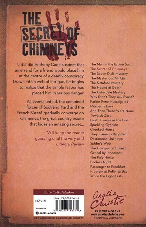 Agatha Christie - Secret of Chimneys, Paperback -