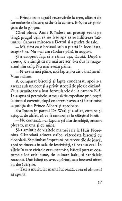 J.M. Coetzee - Viata si vremurile lui Michael K -