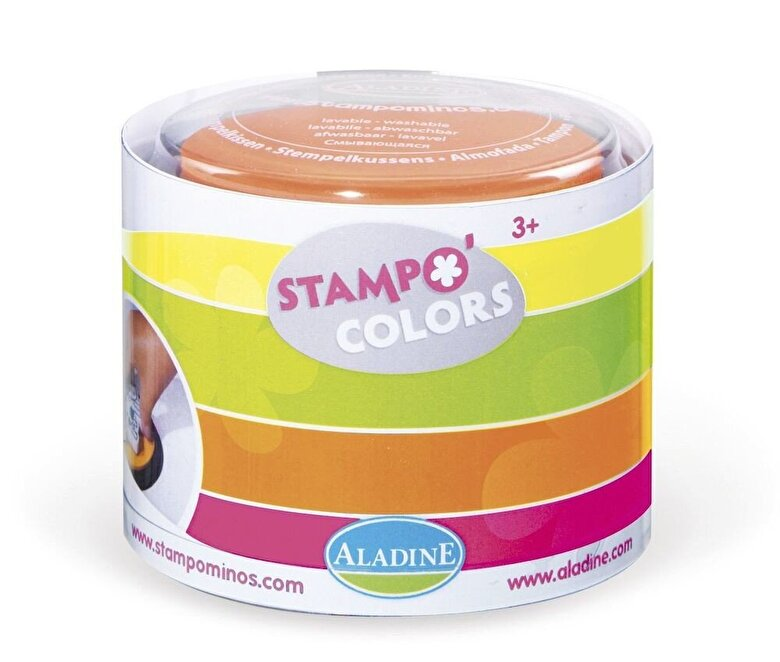 AladinE - Set creativ Stampo Colors, 4 tusiere - Culori fluorescente -