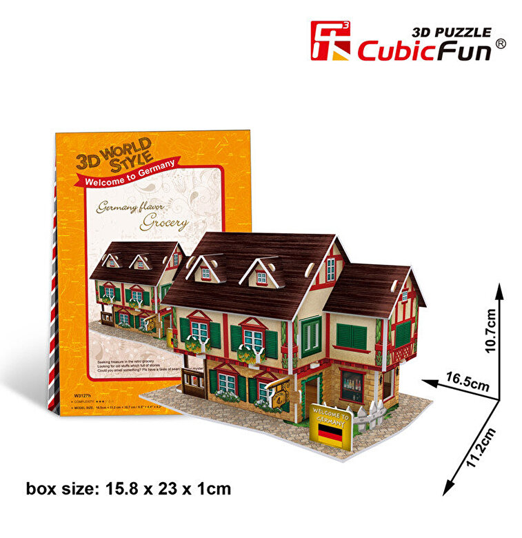 CubicFun - Puzzle 3D - Bacanie, 32 piese -
