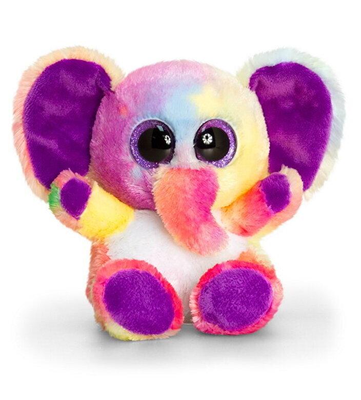 Keel Toys - Jucarie plus Animotsu - Elefant curcubeu, 15 cm -