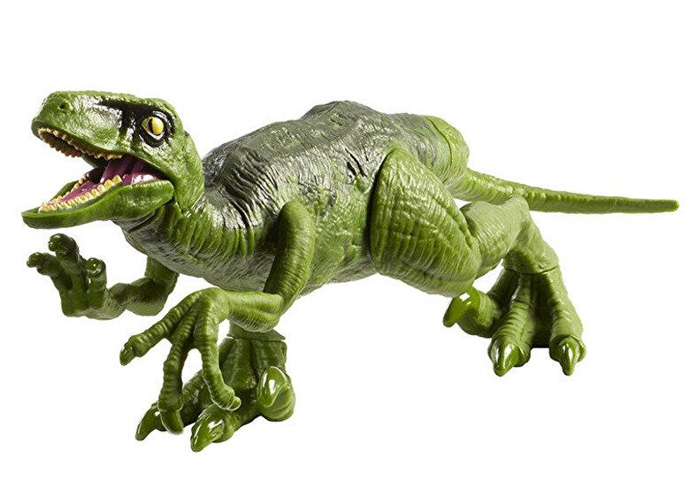Mattel - Figurina Jurassic World Dinozaur Velociraptor Attack Pack Verde -