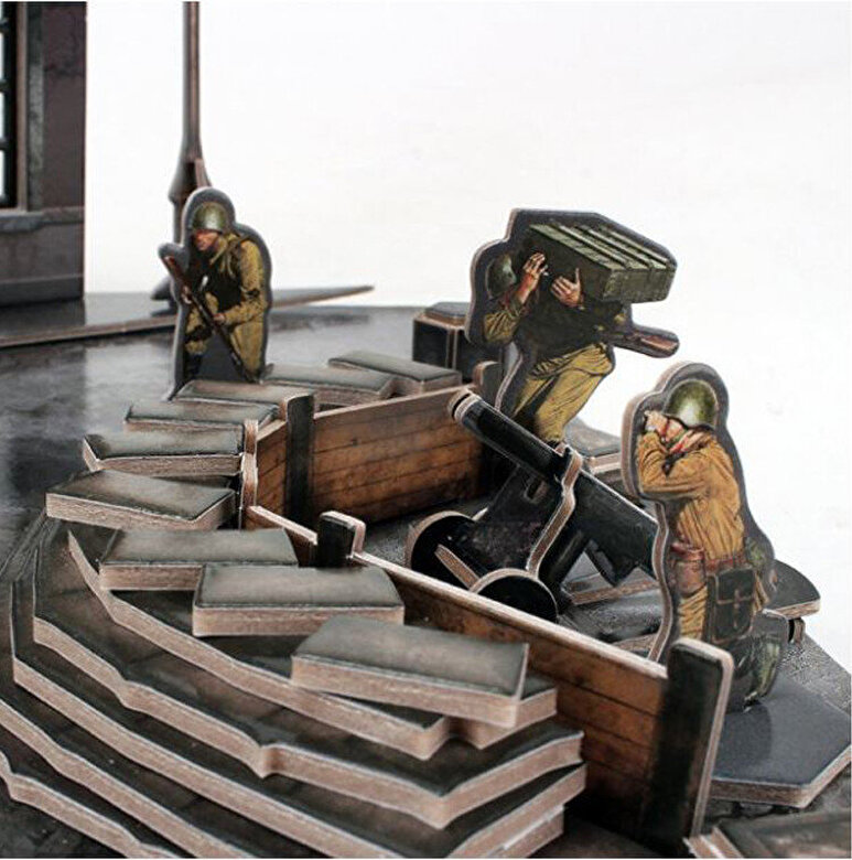 CubicFun - Puzzle 3D Tancuri rusesti - Soviet T34/85, 213 piese -