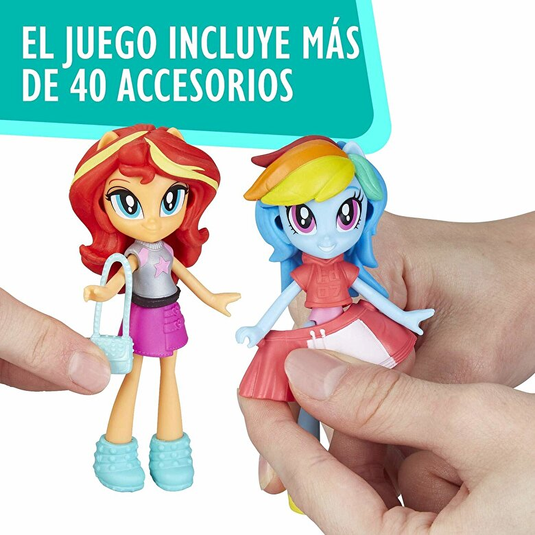 My Little Pony - My Little Pony Equestria Girls - Set figurine Fashion Squad Rainbow Dash si Sunset Shimmer -