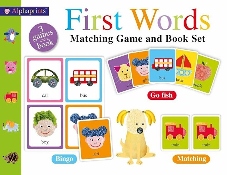 Roger Priddy - Alphaprints First Words Matching Set [With Picture Cards], Hardcover -