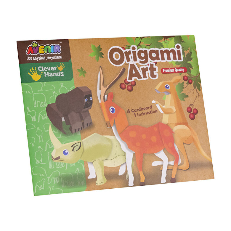 Momki - Kit creatie Arta origami - Animale -