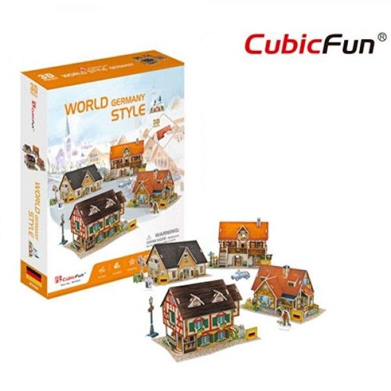 CubicFun - Puzzle 3D Case traditionale din Germania, 181 piese -