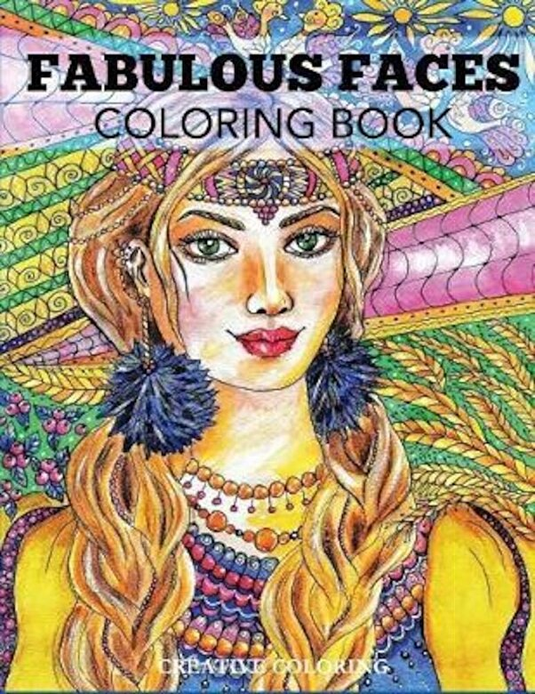 Creative Coloring - Fabulous Faces Coloring Book: An Adult Coloring Book, Paperback -