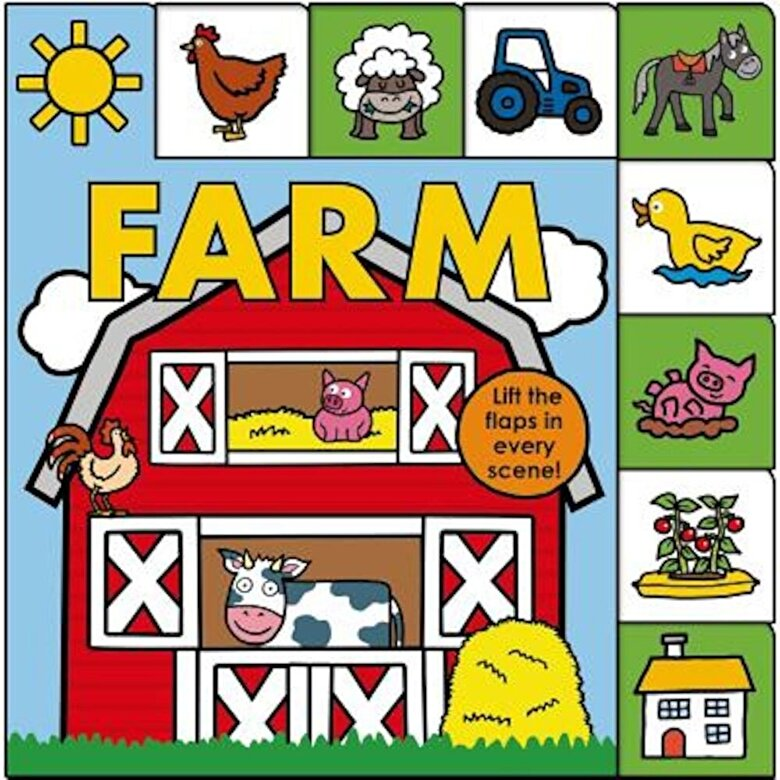 Roger Priddy - Lift-The-Flap Tab: Farm, Hardcover -