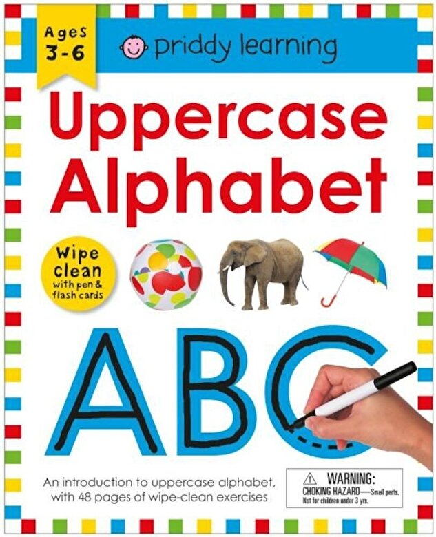 Roger Priddy - Wipe Clean Workbook: Uppercase Alphabet (Enclosed Spiral Binding), Paperback -