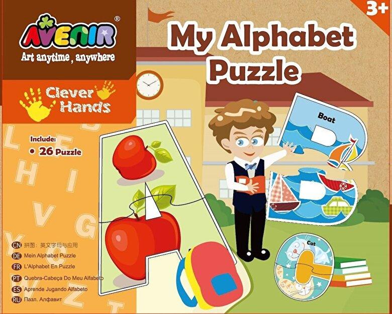 Momki - Set 26 puzzle-uri - Alfabet, 52 piese -