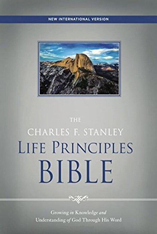 Charles Stanley - NIV, the Charles F. Stanley Life Principles Bible, Hardcover, Red Letter Edition, Hardcover -