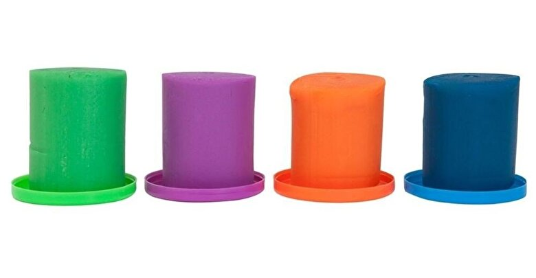 Plastelino - Plastelino - Pasta de modelat Tutti Frutti, 4 culori -