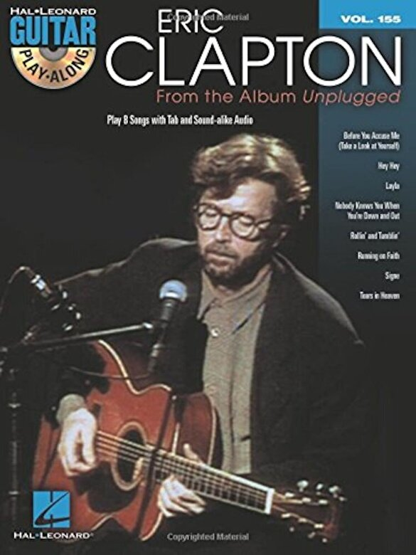 Eric Clapton - Eric Clapton - From the Album Unplugged: Guitar Play-Along Volume 155, Paperback -