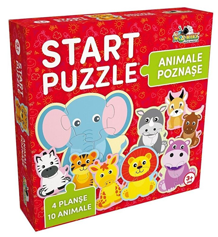 Noriel - Start Puzzle 4 in 1 - Animalute poznase, 25 piese -