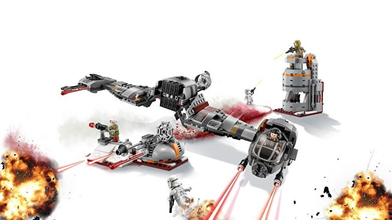 LEGO - LEGO Star Wars, Apararea planetei Crait 75202 -
