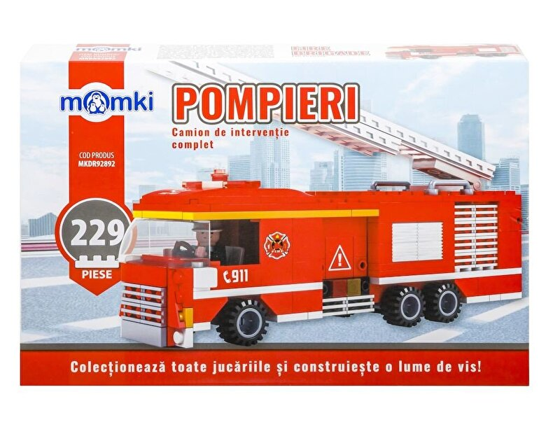 Momki - Momki - Pompieri, Camion interventie, 229 piese -