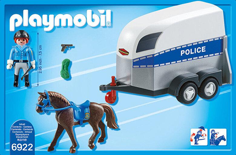Playmobil - Playmobil City Action, Remorca cu cal -