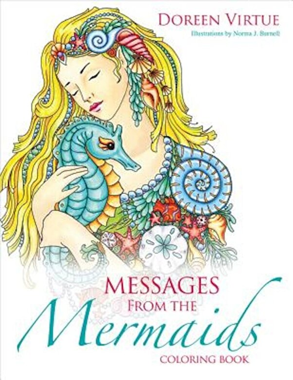 Doreen Virtue - Messages from the Mermaids Coloring Book, Paperback -