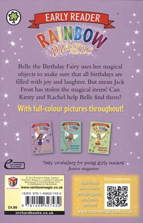 Daisy Meadows - Rainbow Magic Early Reader: Belle the Birthday Fairy, Paperback -