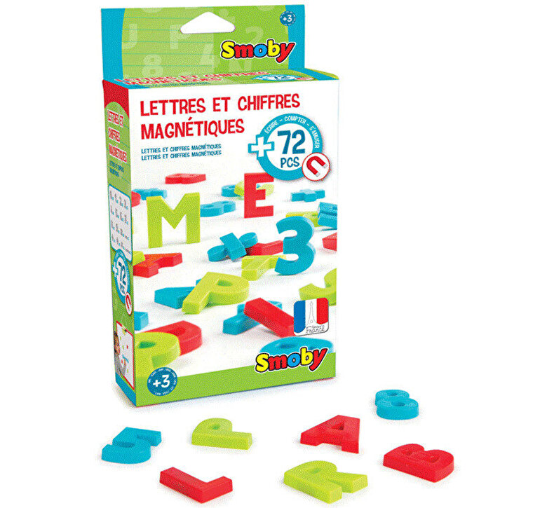 Smoby - Set 72 cifre si litere magnetice Smoby -