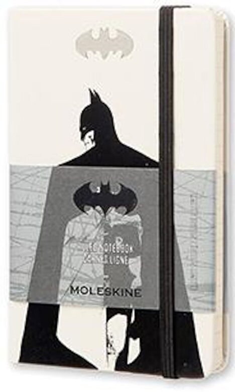 Moleskine - Moleskine Batman Limited Edition Notebook, Pocket, Ruled, White, Hard Cover (3.5 X 5.5), Hardcover -