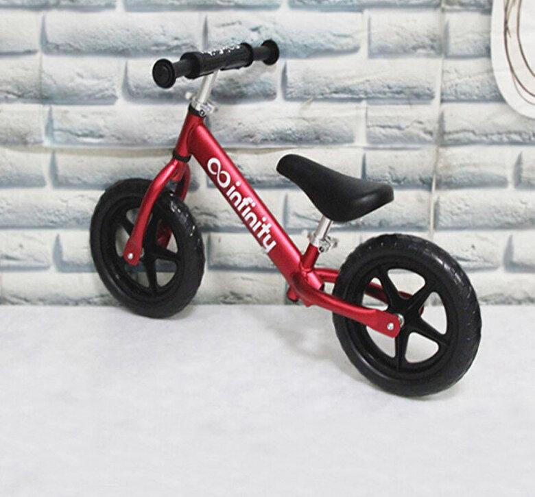 Infinity - Bicicleta fara pedale 12'', rosie, cadru aluminiu -