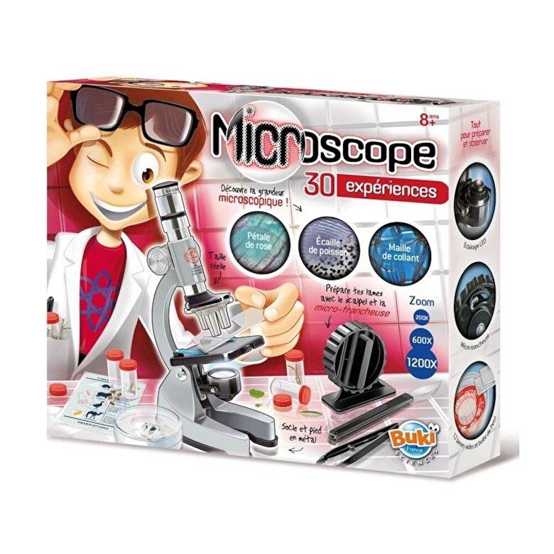 Buki France - Set educativ - Microscop, 30 experimente -