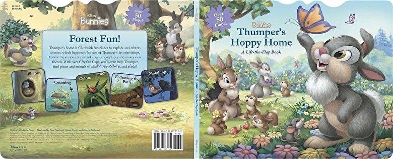 Disney Book Group - Disney Bunnies Thumper's Hoppy Home: A Lift-The-Flap Board Book, Hardcover -