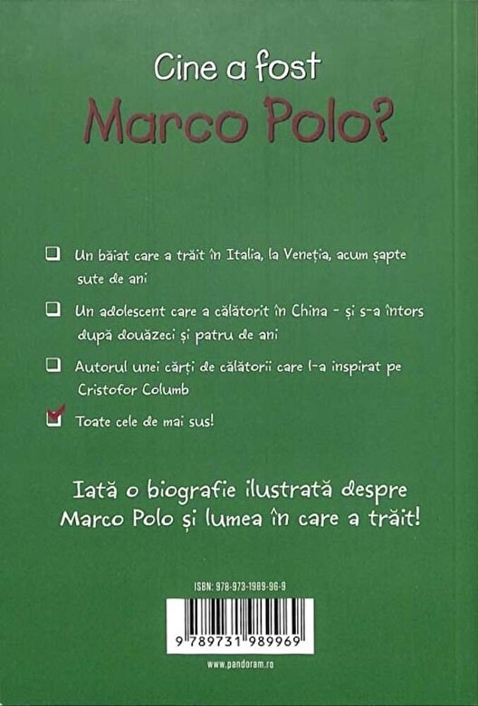 Joan Holub - Cine a fost Marco Polo? -