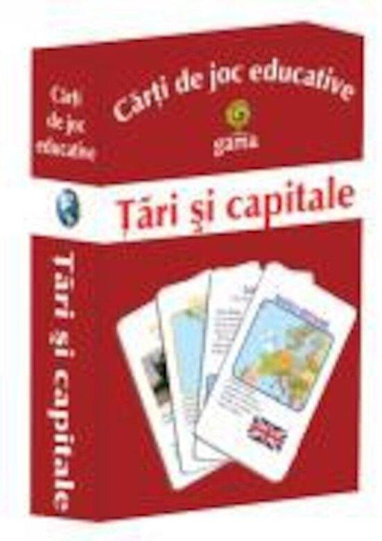 - Carti de joc educative - Tari si capitale -