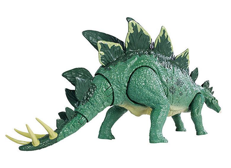 Mattel - Figurina Jurassic World Action Attack Dinozaur Stegosaurus coada flexibila -