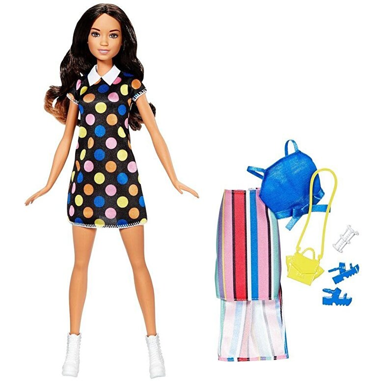 Barbie - Papusa Barbie cu diverse tinute bruneta -